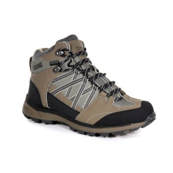 Regatta Women's Samaris II Mid Waterproof Walking Boots - Walnut Parchment
