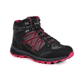 Kimberley Walsh Samaris II Mid Waterproof Walking Boots - Briar Dark Cerise