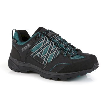 Regatta Women's Samaris II Waterproof Walking Shoes - Shoreline Blue Ash