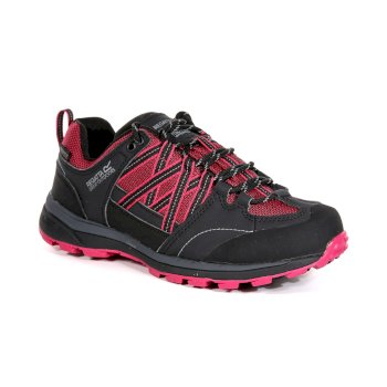 Regatta Women's Samaris II Low Waterproof Walking Shoes - Dark Cerise Ash