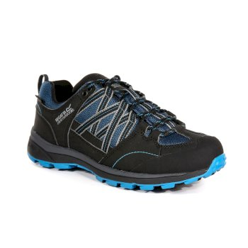 Regatta Women's Samaris II Low Waterproof Walking Shoes - Moroccon Blue Black