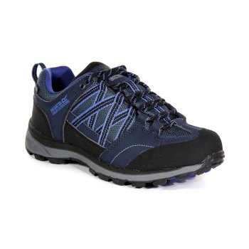 Regatta Women's Samaris II Low Walking Shoes Navy Clematis Blue