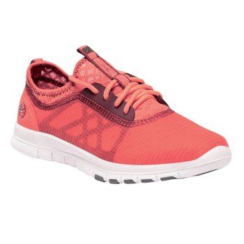 Regatta Women's Marine Sport Lightweight Shoes - Neon Peach Black Cherry
