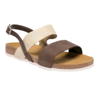 Regatta Women's Jazmin Sandals Aztec Brown Sand Pearl