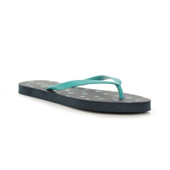 Regatta Women's Bali Flip Flops - Navy Dot