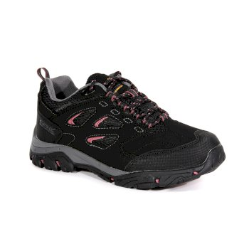 Regatta Women's Holcombe IEP Low Waterproof Walking Shoes - Black Deco Rose