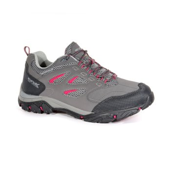 Regatta Women's Holcombe IEP Waterproof Walking Shoes - Steel Vivacious