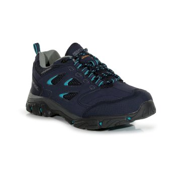 Regatta Women's Holcombe IEP Low Waterproof Walking Shoes - Navy Atlantic
