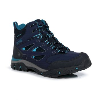Regatta Women's Holcombe IEP Mid Waterproof Walking Boots - Navy Azure Blue