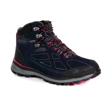 Regatta Women's Samaris Suede Mid Waterproof Walking Boots - Navy Duchess