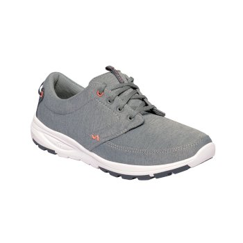 Women's Marine II Casual Trainers Grey Marl Neon Peach