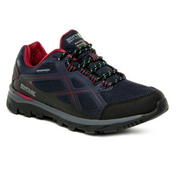 Women's Kota II Waterproof Walking Shoes - Navy Beetroot