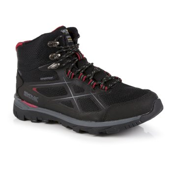 Regatta Women's Kota II Waterproof Mid Walking Boots - Black Beetroot