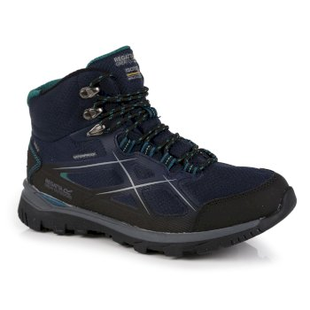 Women's Kota II Waterproof Mid Walking Boots - Navy Shoreline Blue