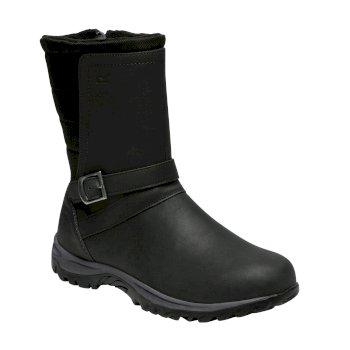 Brunswick - Damen Lederstiefel Black