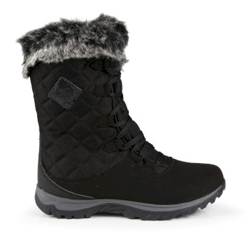 Regatta Women's Newley Faux Fur Trimmed Thermo Boots - Black Briar Grey