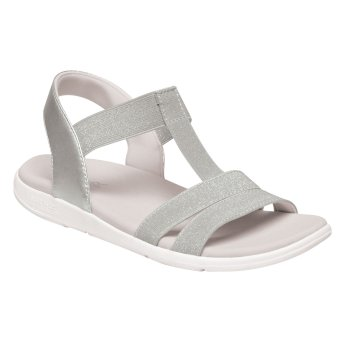 Kimberley Walsh Santa Maria Lightweight Sandals - Silver White