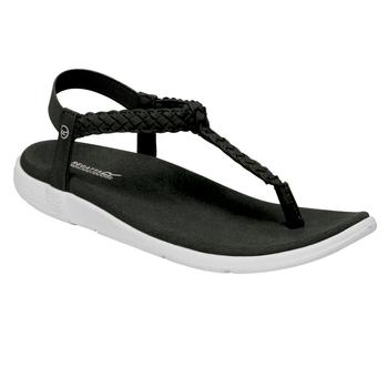 Santa Luna geflochtene Sandalen für Damen Schwarz