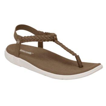 Santa Luna geflochtene Sandalen für Damen Braun