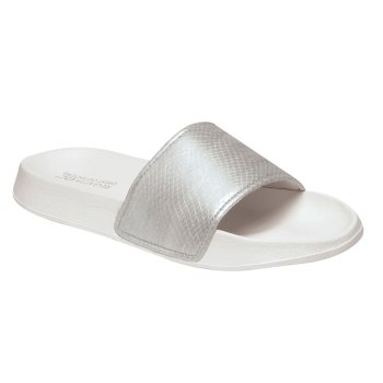 Regatta Women's Shift Sliders - Silver Shine White