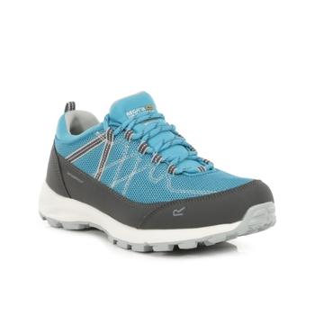 Regatta Women's Samaris Lite Low Waterproof Walking Shoes - Niagra Blue Light Steel