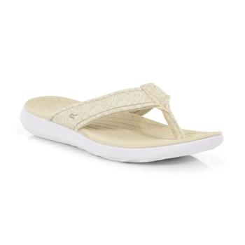 Belle leichte Sandalen mit Zehenriemen für Damen Sahne