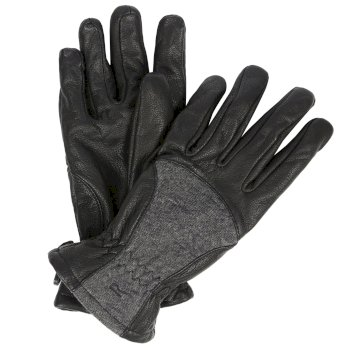 Regatta Women's Garabina Leather Gloves - Black Ash