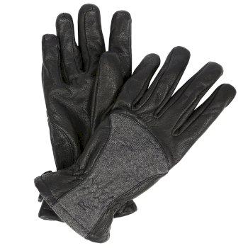 Women's Garabina Leather Gloves Black Ash
