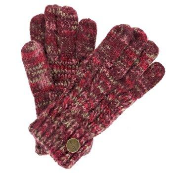 Regatta Women's Frosty II Knit Gloves Burgundy