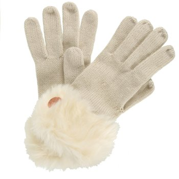 Regatta Adults Luz Cotton Jersey Knit Gloves - Light Vanilla