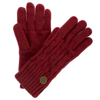 Regatta Multimix II Fleece Lined Cable Gloves Rumba Red