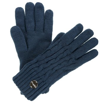 Regatta Multimix II Fleece Lined Cable Gloves MajolicaBlue