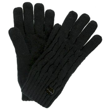 Regatta Multimix II Fleece Lined Cable Gloves Black