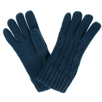 Regatta Women's Multimix II Fleece Lined Cable Gloves - Deep Teal