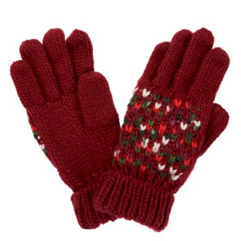 Regatta Women's Frosty III Knitted Gloves - Delhi Red