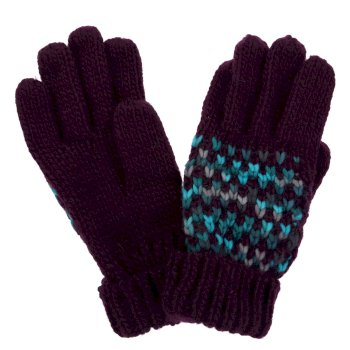 Regatta Women's Frosty III Knitted Gloves - Prune