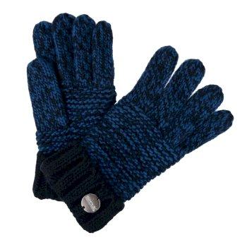 Frosty IV Acryl-Strickhandschuhe für Damen Blau