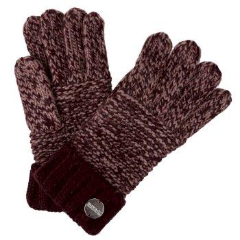 Frosty IV Acryl-Strickhandschuhe für Damen Rot