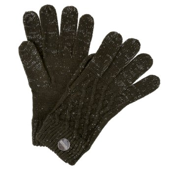 Regatta Women's Multimix III Acrylic Knit Diamond Gloves - Dark Khaki