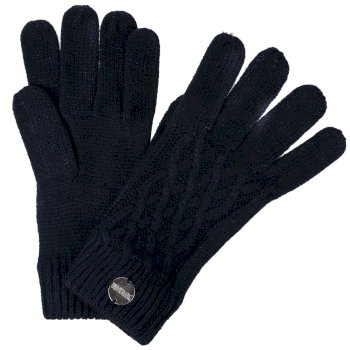 Regatta Women's Multimix III Acrylic Knit Diamond Gloves - Navy
