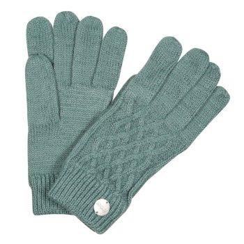 Multimix III Diamond Acryl-Strickhandschuhe für Damen Grün