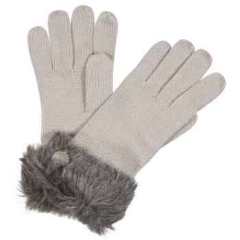 Luz II Acryl-Strickhandschuhe mit Kunstpelzrand für Damen Grau