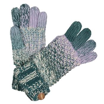 Frosty V Strickhandschuhe für Damen Grün