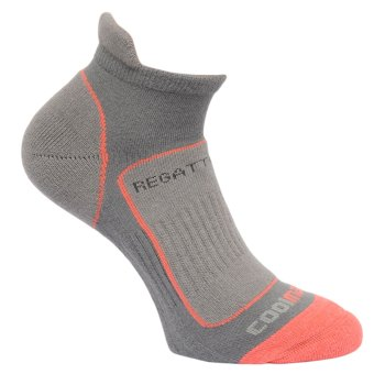 Regatta Women's Trail Runner Trainer Socks - Steel Coral