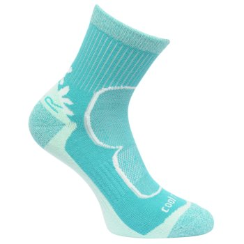 Trail Runner - Damen Sneakersocken Karamell/Keramikblau