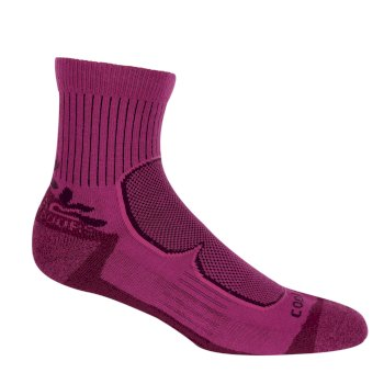 Women's 2 Pack Active Socks Blackcurrant Vivid Viola