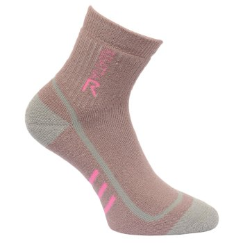 Women's 3 Season Heavyweight Trek & Trail Socks Mauve Raspberry Rose
