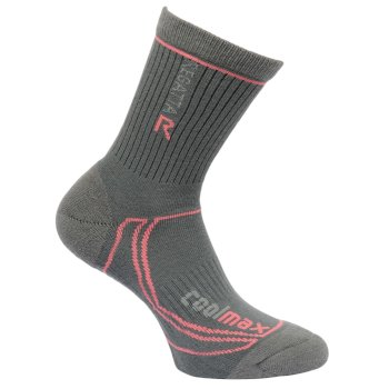 Regatta Women's 2 Season Coolmax Trek & Trail Socks - Iron Coral