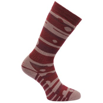 Regatta Women's Wellington Socks - Dark Pimento Twilight Mauve