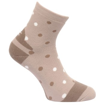 Women's 3 Pack Lifestyle Polka Dot Socks Barley Black Plum Wine